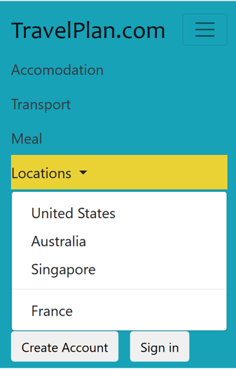 Responsive website header in mobile view using Bootstrap