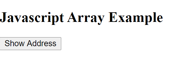 Iterate elements of array in js