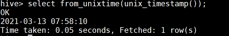 From_unixtime in Hive
