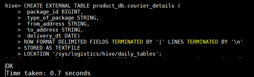 External table example in Hive